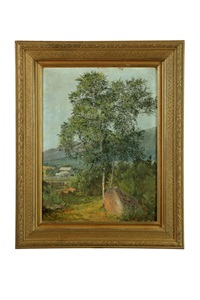 landscape with tree by david johnson