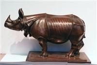 standing rhinoceros by e. goldfinger