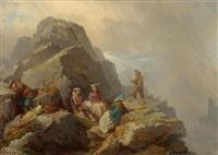 fünf bergsteiger by raphael ritz