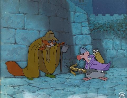 Robin Hood Disguised As A Blind Beggar From Robin Hood By Walt