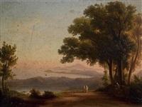 landschaft bei neapel mit dem vesuv im hintergrund by johann-rudolph buhlmann