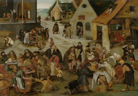 die sieben werke der barmherzigkeit by pieter brueghel the younger