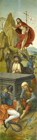 auferstehung christi by flemish school antwerp 16