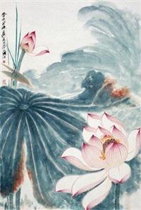荷花图 (lotus) by qi yongcheng