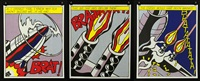 as i opened fire (set of 3) by roy lichtenstein