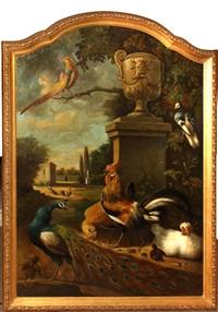 ornamental fowl in a garden by pieter casteels iii