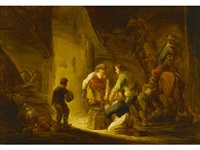 brigands raiding a family home by benjamin gerritsz cuyp