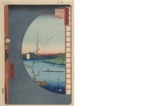 meisho edo hyakkei (100 famous views of edo) (3 works) by ando hiroshige