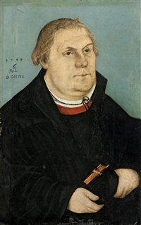 bildnis martin luthers by lucas cranach the younger