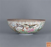 百鸟朝凰 (egg-shell porcelain bowl) by deng xiaoyu