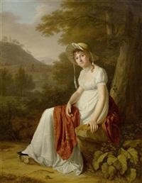 porträt von madame sara bouvier-benoît by pierre-louis bouvier and wolfgang adam töpffer