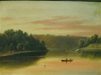 river landscape by charles lanman