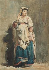 bildnis einer italienerin in tracht by frank buchser