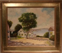 new england landscape by camillo adriani