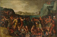 joshua and the israelites in battle against the amalek by anonymous-flemish (17)