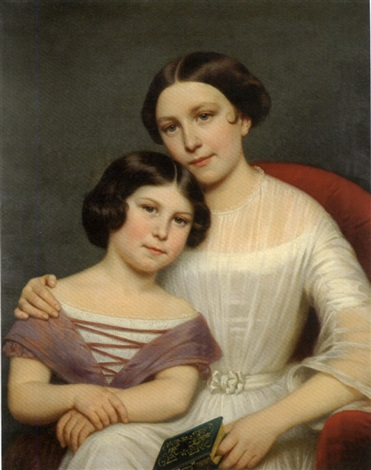 portrait of two sisters by anglo american school 19