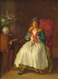 la fille au crochet by armand hubert simon leleux