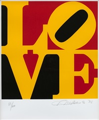 from the book of love (sold with 301b; set of 2) by robert indiana