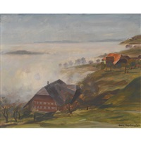 emmentaler landschaft im nebel by hans gartmeier