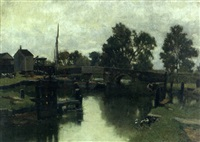 on the medway by john mallord bromley