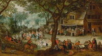 peasant wedding by david vinckboons
