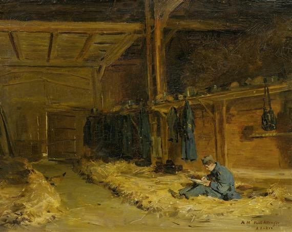 soldat im strohlager by albert anker