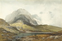 scarfel pike from sty head tarn, cumbria by frederick clive newcombe