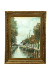 canal scene by charles paul gruppe