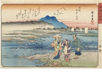 three oban yoko-e (3 works) by ando hiroshige