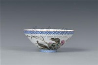 鸟语花香 (egg-shell porcelain bowl) by liang duishi