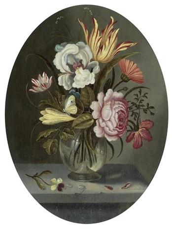 blumenstrauss mit tulpe iris und rose by abraham bosschaert