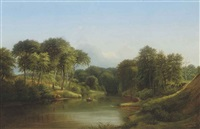 a row on the river by ferdinand reichardt