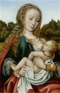 maria lactans by master of frankfurt