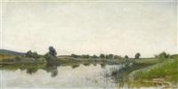 landschaft bei neuchâtel. canal de la thielle by gustave jeanneret