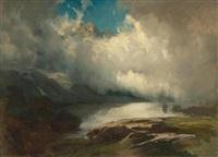 berglandschaft mit aufziehenden wolken by johann rudolf koller