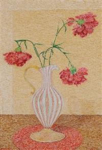 nelken in vase by gottardo guido segantini