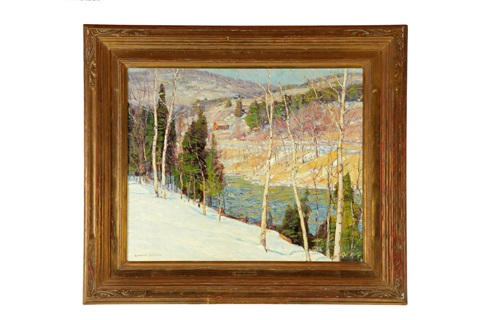 winter landscape by george gardner symons