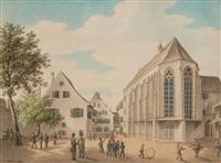 basel: andreaskapelle. / - alte elisabethenkirche. / - waisenhaus (3 works) by johann jakob schneider