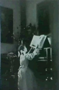 at the piano by nell dorr