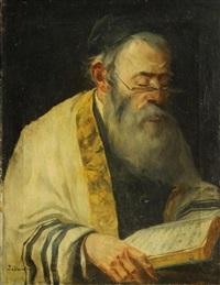 a rabbi reading by lazar krestin
