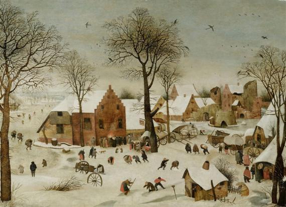 holländische winterlandschaft mit dorftreiben by pieter brueghel the younger