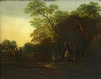 a gypsy encampment by thomas gainsborough