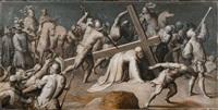 christus auf dem weg nach golgatha by ambrosius francken the elder