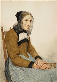 grossmutter mit bibel by albert anker