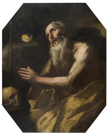 der heilige paulus der eremit by luca giordano