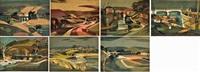 seven bridges over the maribynong: i) darraweit ii) konagaderra iii) wildwood iv) bulla v) arundel vi) keilor vii) footscray by kenneth william david jack