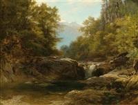 bachgrund im eschental (bayerische alpen) by johann gottfried steffan