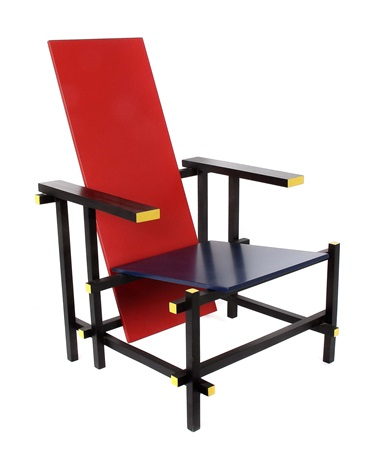 rot blau stuhl by gerrit rietveld on artnet. Black Bedroom Furniture Sets. Home Design Ideas