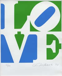 from the book of love (sold with 302b; set of 2) by robert indiana
