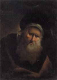 a portrait of a rabbi by salomon koninck